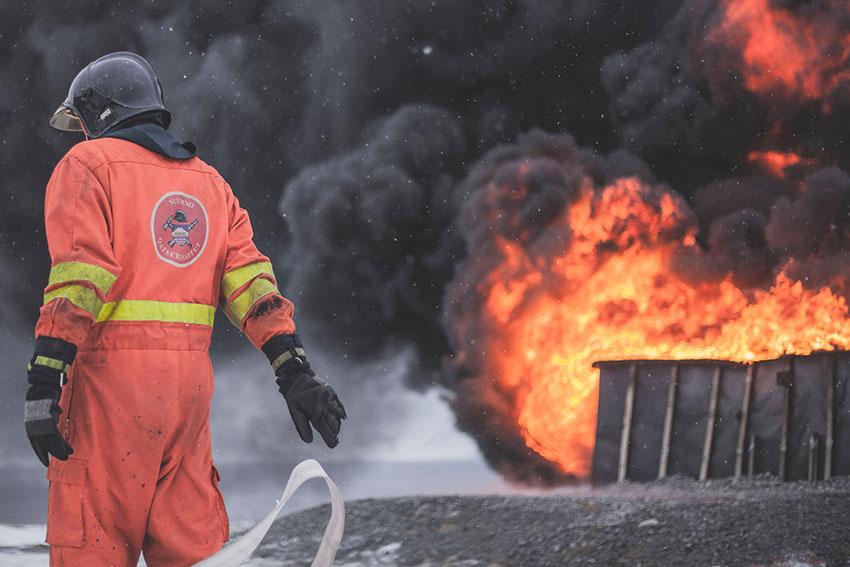 Illustration d'un incendie